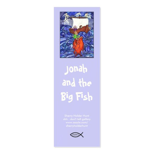 double sided bookmark template - jonah and the big fish bookmark customized double sided