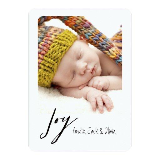 Joy Modern Polaroid Holiday Card