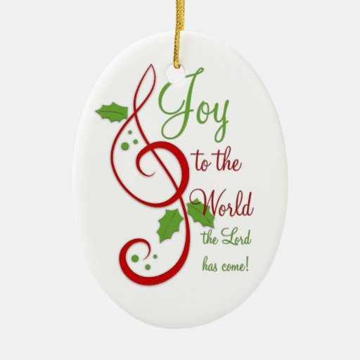 Religious Christmas Ornaments Religious Christmas: Joy To The World Christian Christmas Carol Music Ceramic