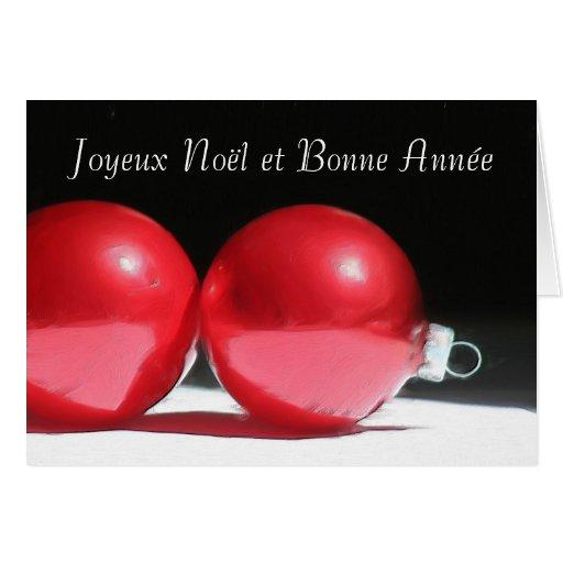 joyeux no l et bonne ann e ornaments greeting card zazzle. Black Bedroom Furniture Sets. Home Design Ideas