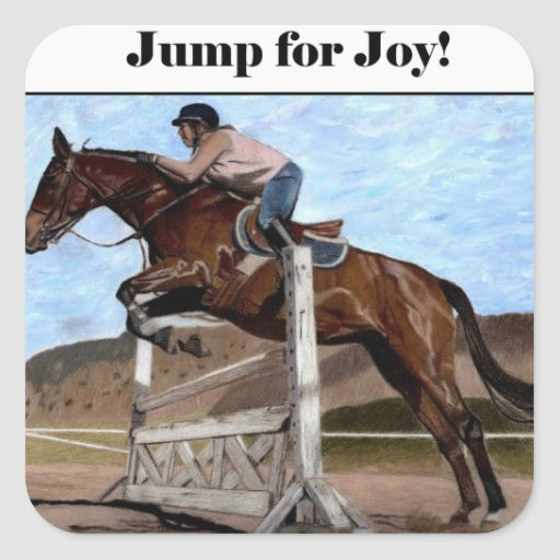 Jump For Joy Fun Horse Stickers Zazzle