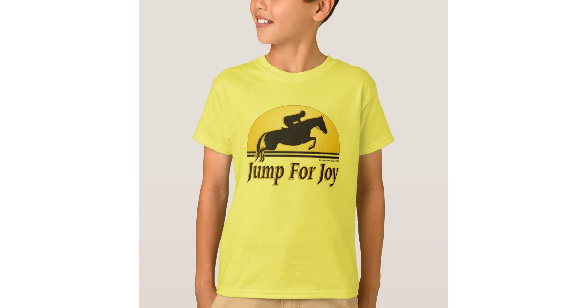 Jump For Joy Kids Equestrian T Shirt Zazzle