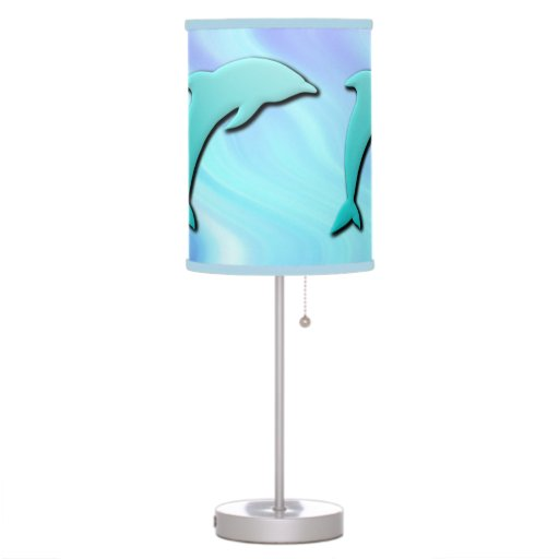 Jumping Dolphin 3d Effect Cool Blue Table Lamp Zazzle