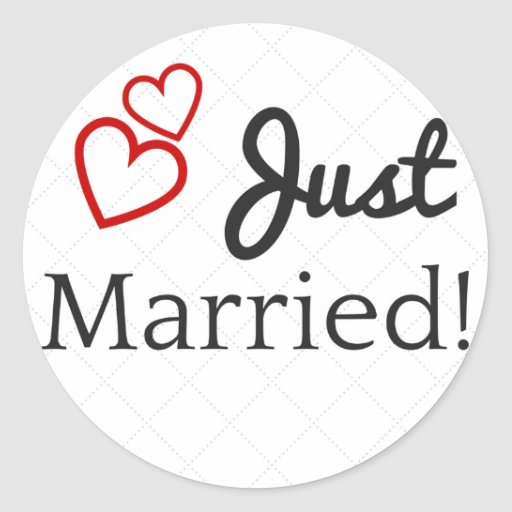 Just Got Engaged Now What: Just Got Married Classic Round Sticker