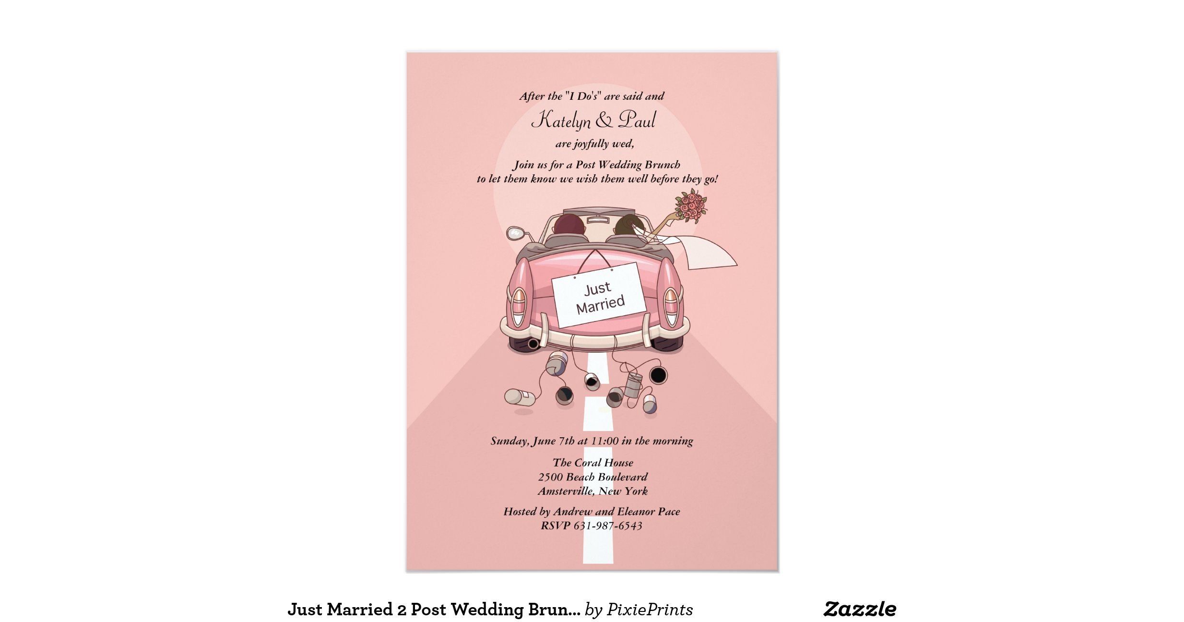 Post Wedding Brunch Invitation Wording: Just_married_2_post_wedding_brunch_invitation