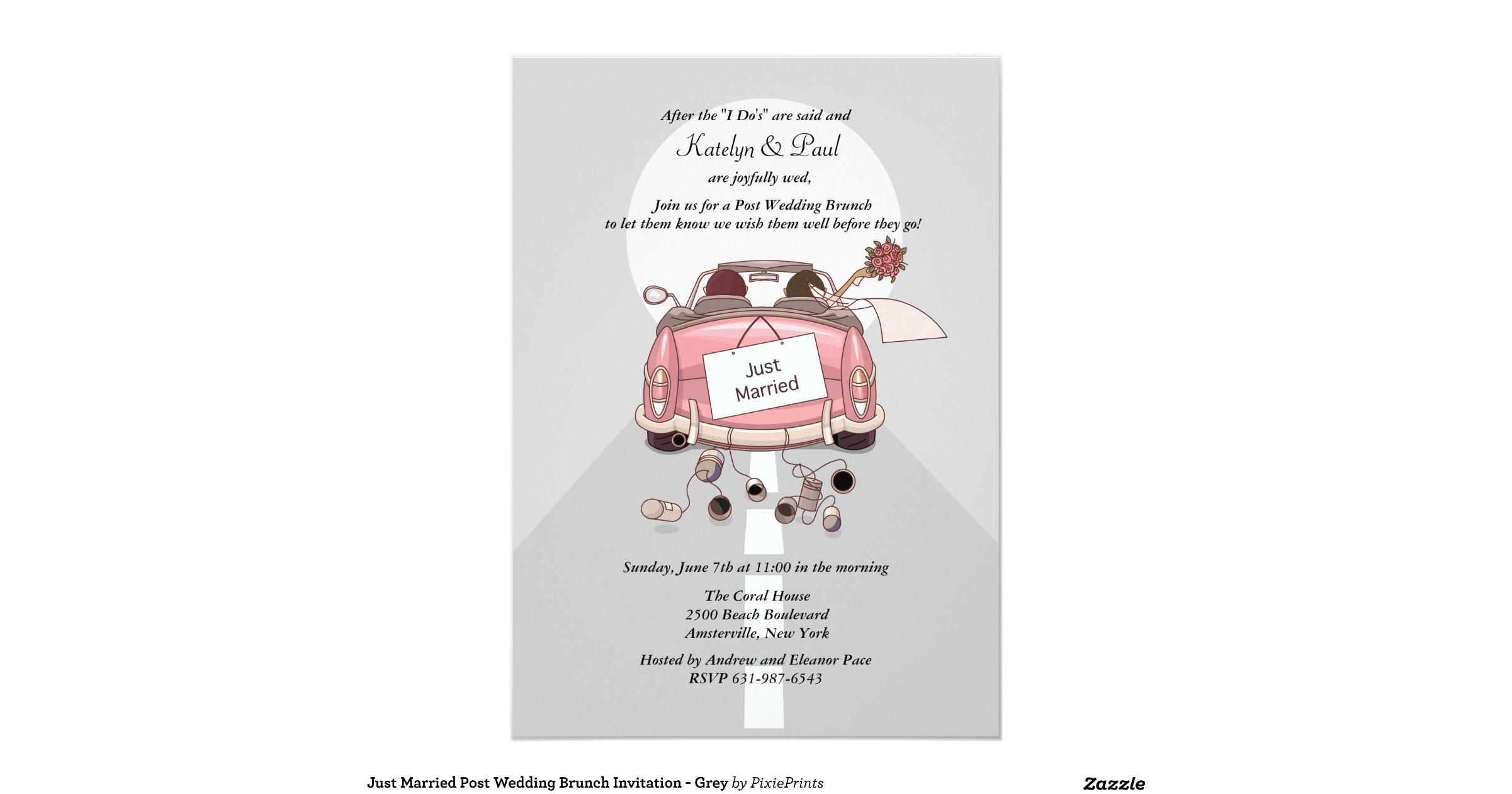 Post Wedding Brunch Invitation Wording: Just_married_post_wedding_brunch_invitation_grey