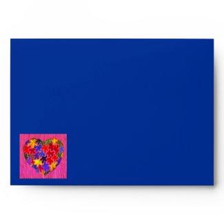 Kaleidoscope Heart envelope