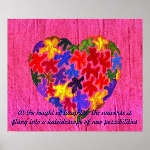 Kaleidoscope Heart print