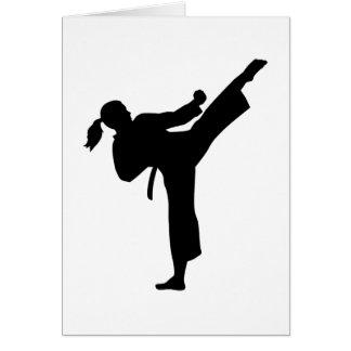 Female Karate Greeting Cards   Zazzle