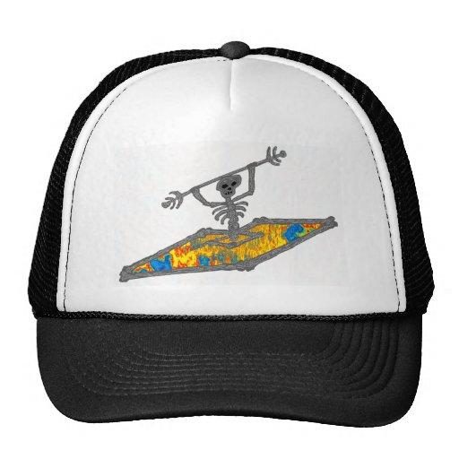 Grateful Dead Trucker Hat: Kayak Hippie Bones Trucker Hat