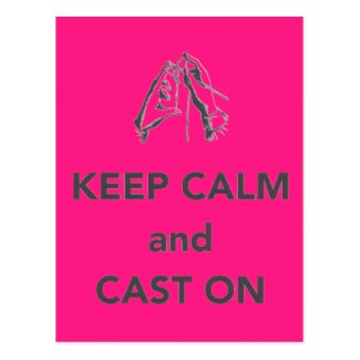 Keep Calm and Cast On Postcards