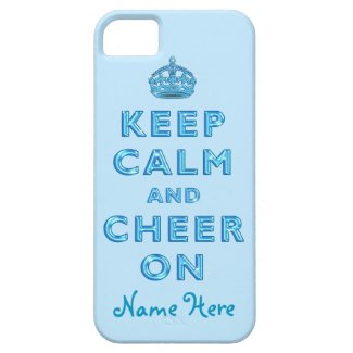 KEEP CALM AND CHEER ON iPhone for Cheerleaders iPhone 5 Case