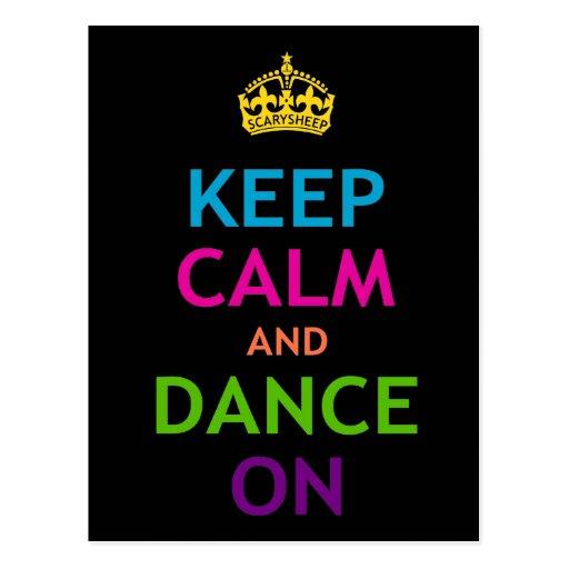 Keep Calm and Dance On Postcard | Zazzle