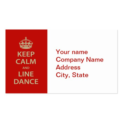 Line Card Examples: Line Dancing Business Card Templates