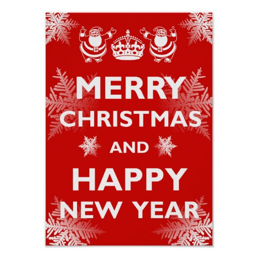 Keeping Christmas All The Year: Keep Calm Merry Christmas Poster