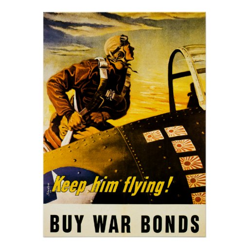 Coca Cola Gifts >> Keep Him Flying! Buy War Bonds - Vintage WW2 Poster | Zazzle