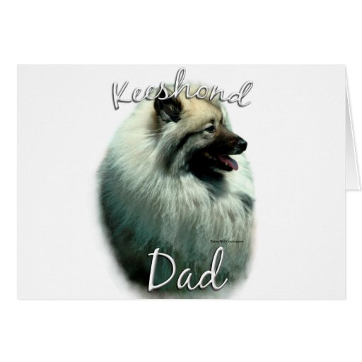 Keeshond Dad 2 Card | Zazzle