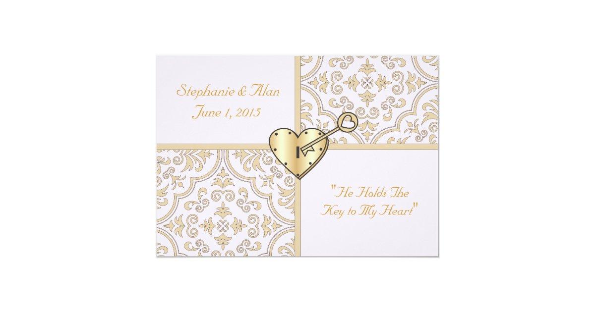 Key Themed Wedding Invitations: Key To My Heart Wedding Invitation