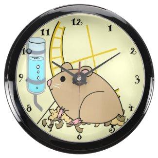 Kid's Cute Hampster Aqua Clock