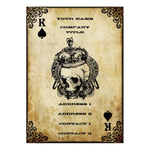 King of Spades - Business Card | Zazzle