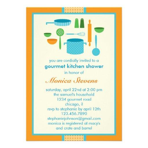 """Kitchen Bridal Shower Invitation 5"""" X 7"""" Invitation Card"""