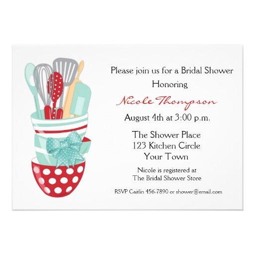 """Kitchen Tools Bridal Shower Invitation 5"""" X 7"""" Invitation"""
