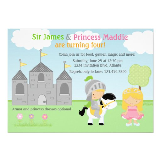Personalized Knight Birthday Invitations