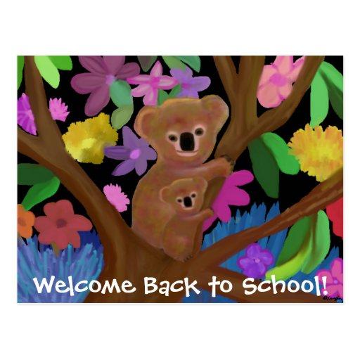 Koalas Welcome Back To School Postcards