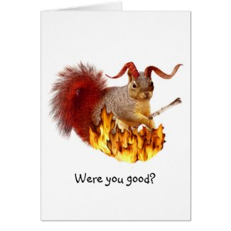 Krampus Squirrel Card