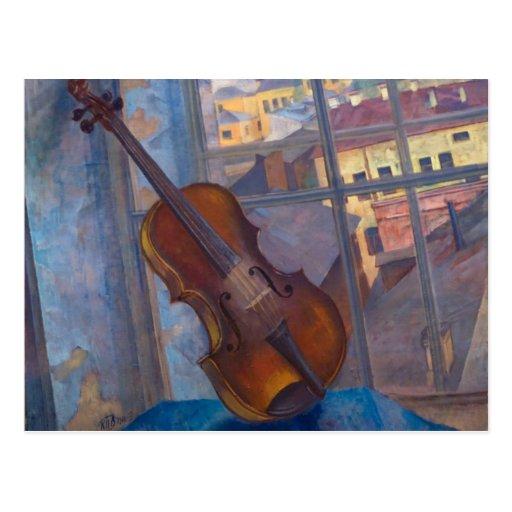 Kuzma Petrov-Vodkin Violin Postcard