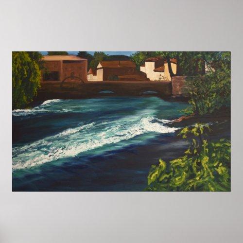 la Fontaine de Vaucluse print