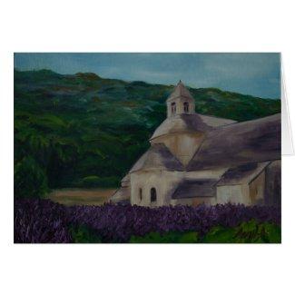 l'abbaye de Sénanque en l'été card
