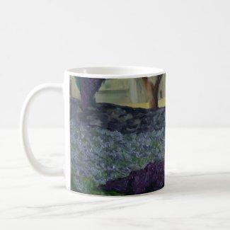 l'abbaye de Sénanque lavender & butterfly bush mug