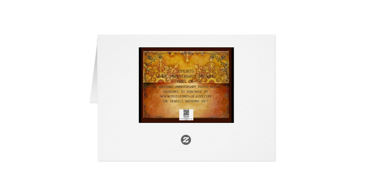 13 Wedding Anniversary Gifts: Lace 13th Year Wedding Anniversary Gift Card