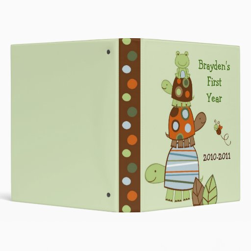 Laguna Turtle Frog Baby Photo Album Scrapbook 3 Ring