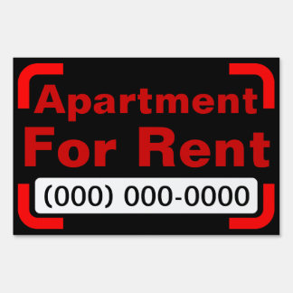 for rent yard lawn signs zazzle. Black Bedroom Furniture Sets. Home Design Ideas
