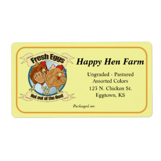 Egg carton shipping address return address labels zazzle for Egg carton labels template