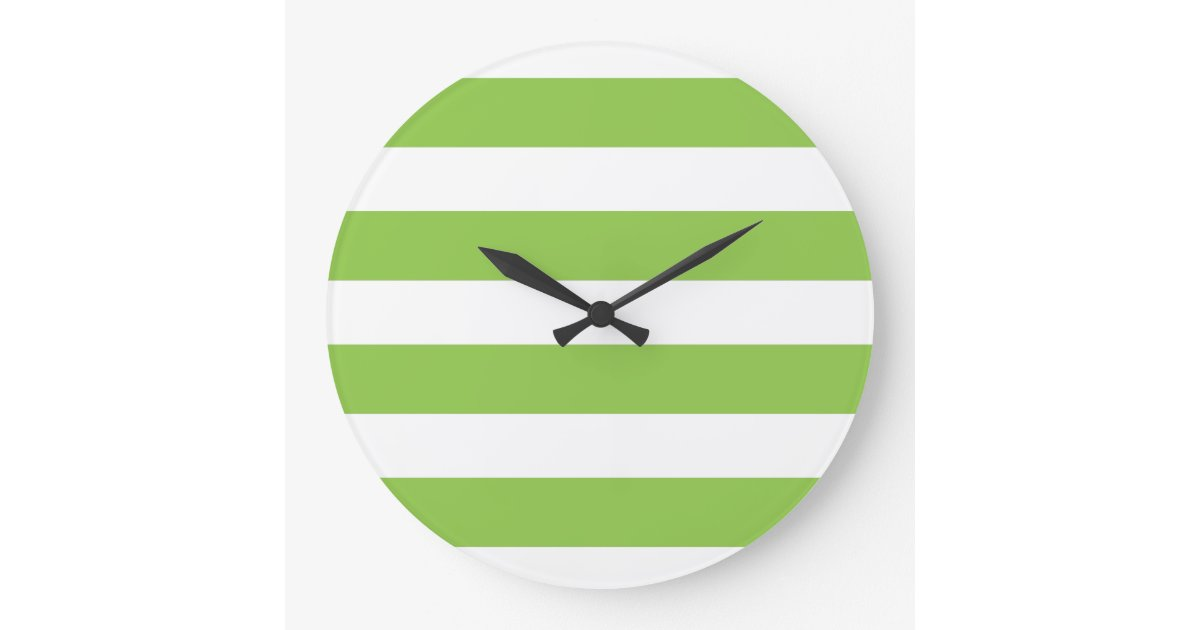 Large Lime Green Wall Clock Zazzle