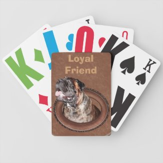 Large Print Playing Cards with Dog