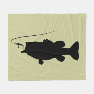 Bass Fishing Blankets & Bed Blankets | Zazzle