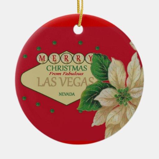 Las Vegas Christmas Ornament | Zazzle