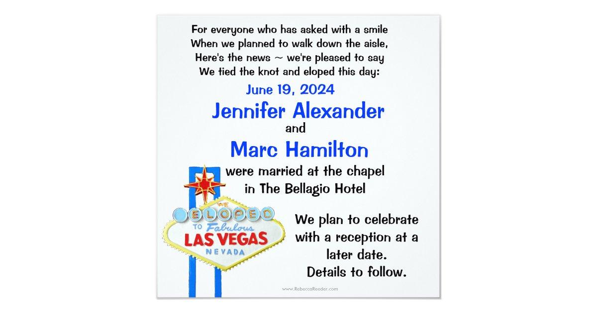 Eloping Tips: Vegas, Baby, Vegas