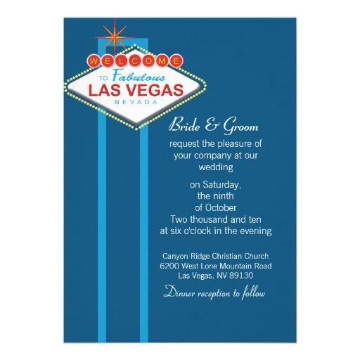 Las Vegas Wedding Invitation Wording: Las Vegas Wedding Invitation