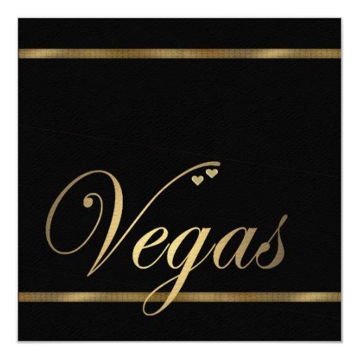 Las Vegas Wedding Invitation Wording: Las Vegas Wedding Invitation Template