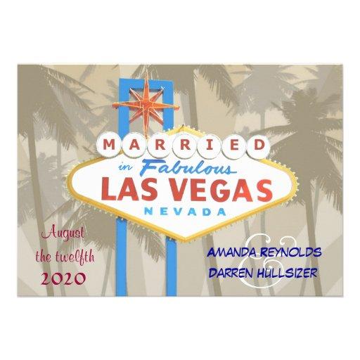 "Las Vegas Wedding Invitations 5"" X 7"" Invitation Card"