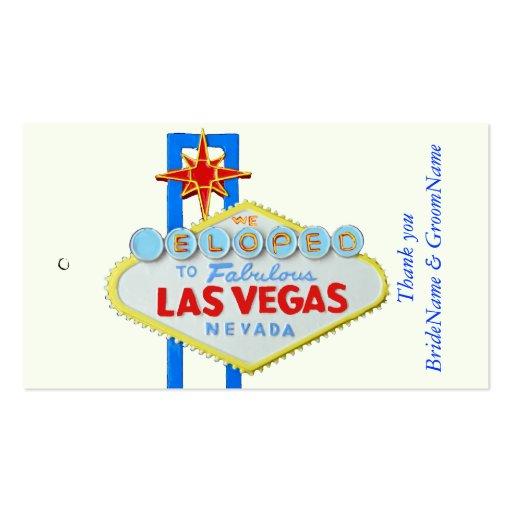Las Vegas Wedding Gifts: Las Vegas Wedding Thank You Gift Tag Business Card