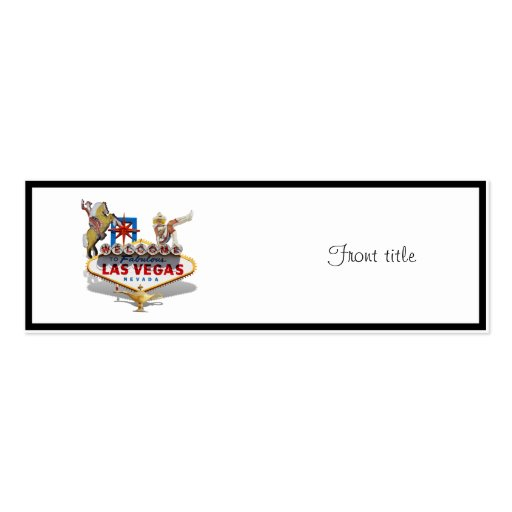 Las Vegas Welcome Sign Business Card Template | Zazzle
