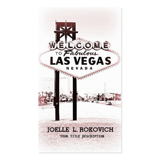 Las Vegas Welcome Sign Generic Business Card Business Cards