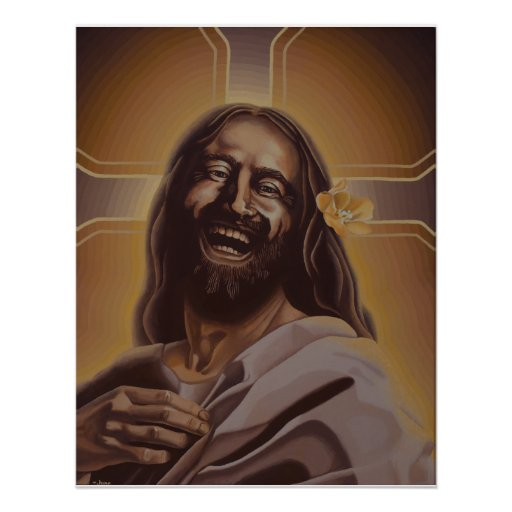 Laughing Jesus poster | Zazzle