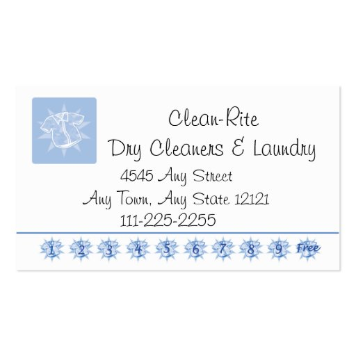 cleaner Customer Loyalty Punch Card Business Card Template Zazzle to52iavQ